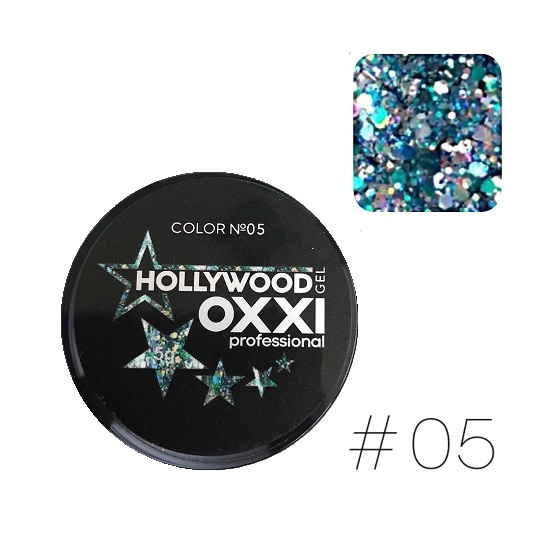 Гель паста OXXI / HOLLYWOOD Глиттерный  №05 5г